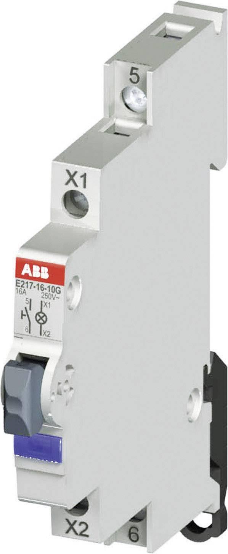 Tlačidlo s kontrolkou ABB, 16 A, 115/250 V, zelené LED, ABB 2CCA703162R0001