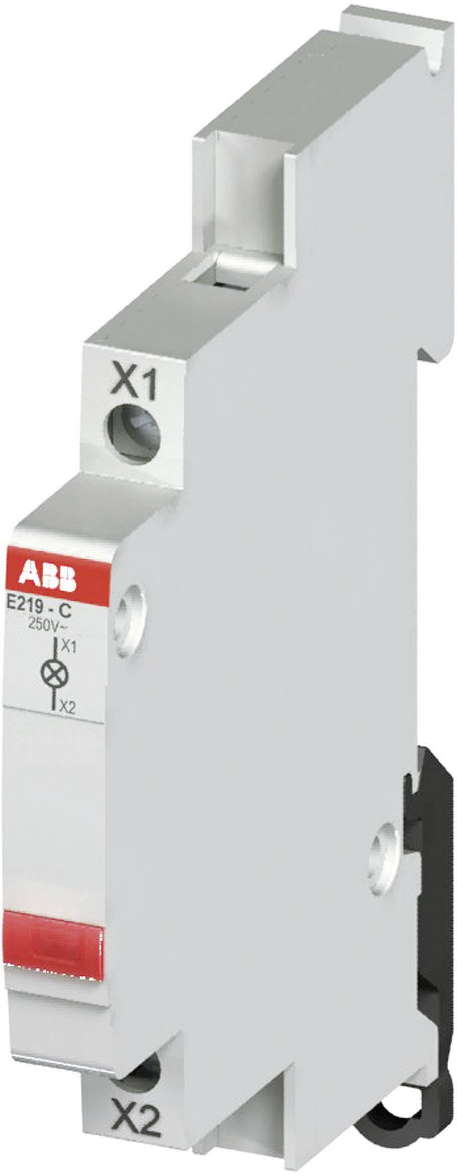 Kontrolka ABB na DIN lištu, 12/48 V, červená LED, 2CCA703421R0001