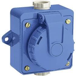 Vodotěsná zásuvka na omítku, 230 V/AC, 16 A, IP68, modrá