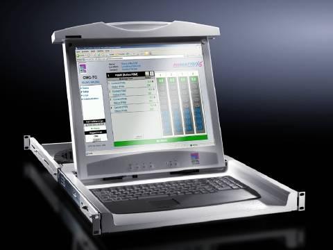 KVM konsole Rittal 9055.312, 1 port, DVI, VGA