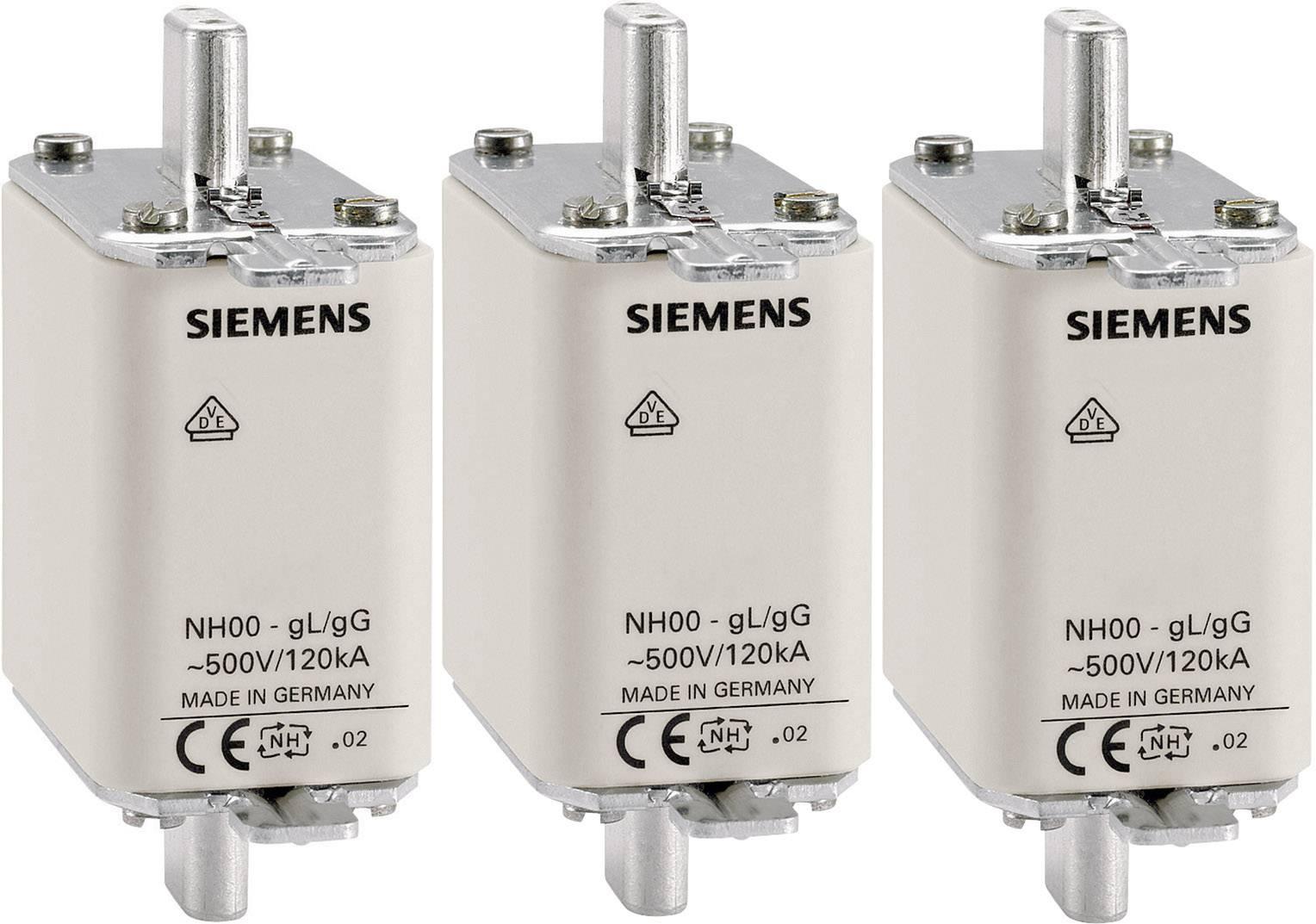 Pojistková vložka NH Siemens, vel. 000, 50 A, 3ks, 3NA3820