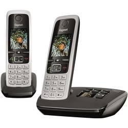 Bezdrôtový analógový telefón Gigaset C430A Duo, strieborná, čierna
