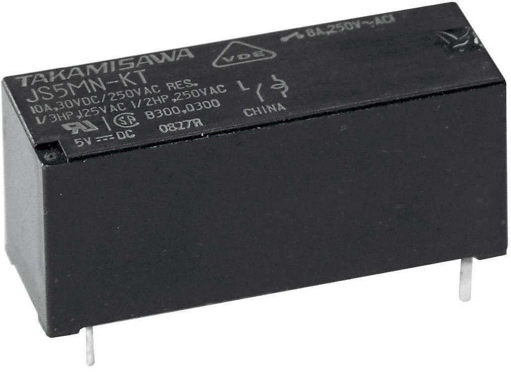 Relé do DPS Fujitsu JS-12N-K, 12 V/DC, 10 A, 1 prepínací, 1 ks