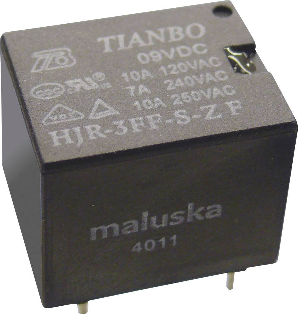 Miniaturní relé Tianbo Electronics HJR-3FF-06VDC-S-ZF, 15 A , 30 V/DC/ 250 V/AC , 2770 VA/ 240 W