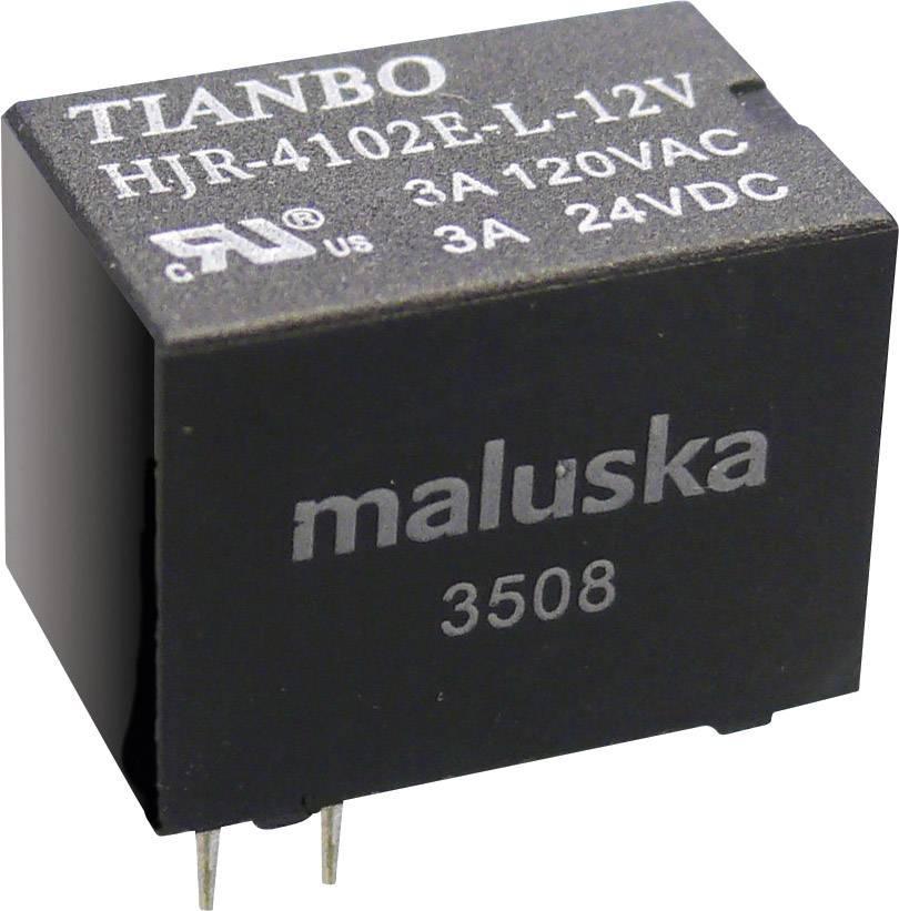 Miniaturní relé Tianbo Electronics HJR4102E-L-5VDC-S-Z, 5 A , 60 V/DC/ 240 V/AC , 360 VA/ 90 W