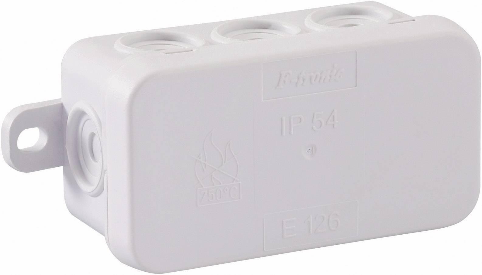 Inštalačná rozbočovacia krabička GAO 5229, (d x š x v) 75 x 40 x 37 mm, IP54, svetlo sivá