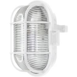ISO svítidlo s mřížkou, 60 W, E27, IP44, oválné, bílá