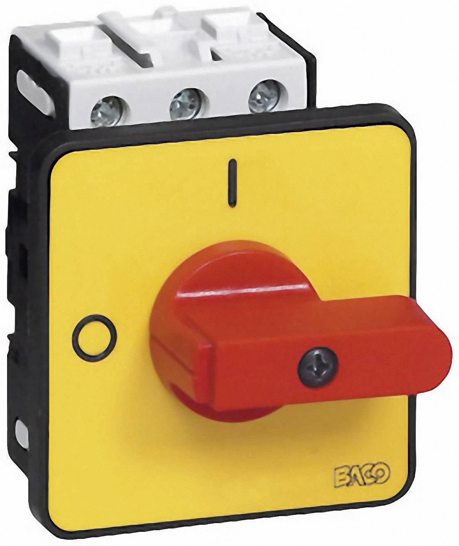 Odpínač BACO BA172102, 32 A, 1 x 90 °, žlutá, červená, 1 ks