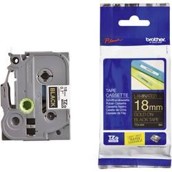 Páska do štítkovače Brother TZe-344, 5834076, 18 mm, TZe, TZ, 8 m, zlatá/černá