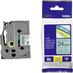 Páska do štítkovače Brother TZe-751, 5834040, 24 mm, TZe, TZ, 8 m, černá/zelená