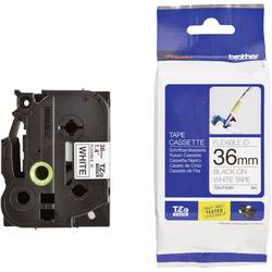 Páska do štítkovače Brother TZe-FX261, 5834166, 36 mm, TZe-FX, TZ-FX, 8 m, černá/bílá