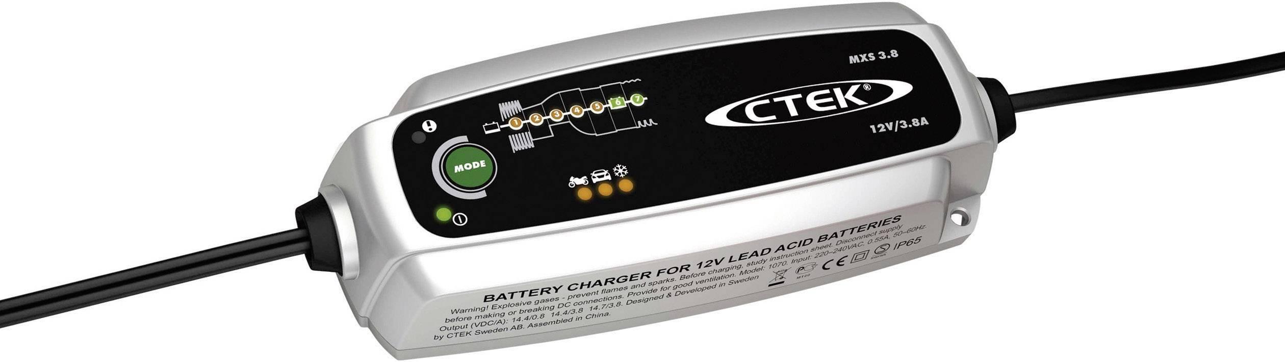 Automatická nabíječka autobaterií CTEK XS 3.8, 3,8 A, 12 V
