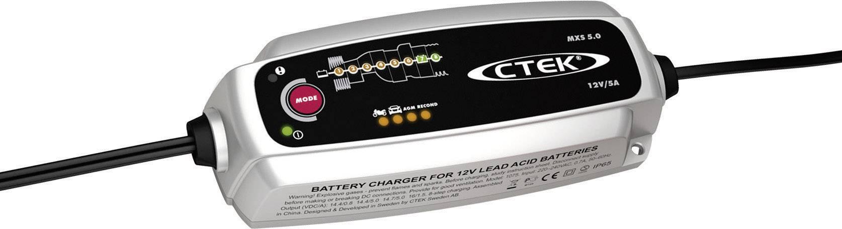 Automatická nabíječka autobaterií CTEK MXS 5.0, 5 A / 12 V