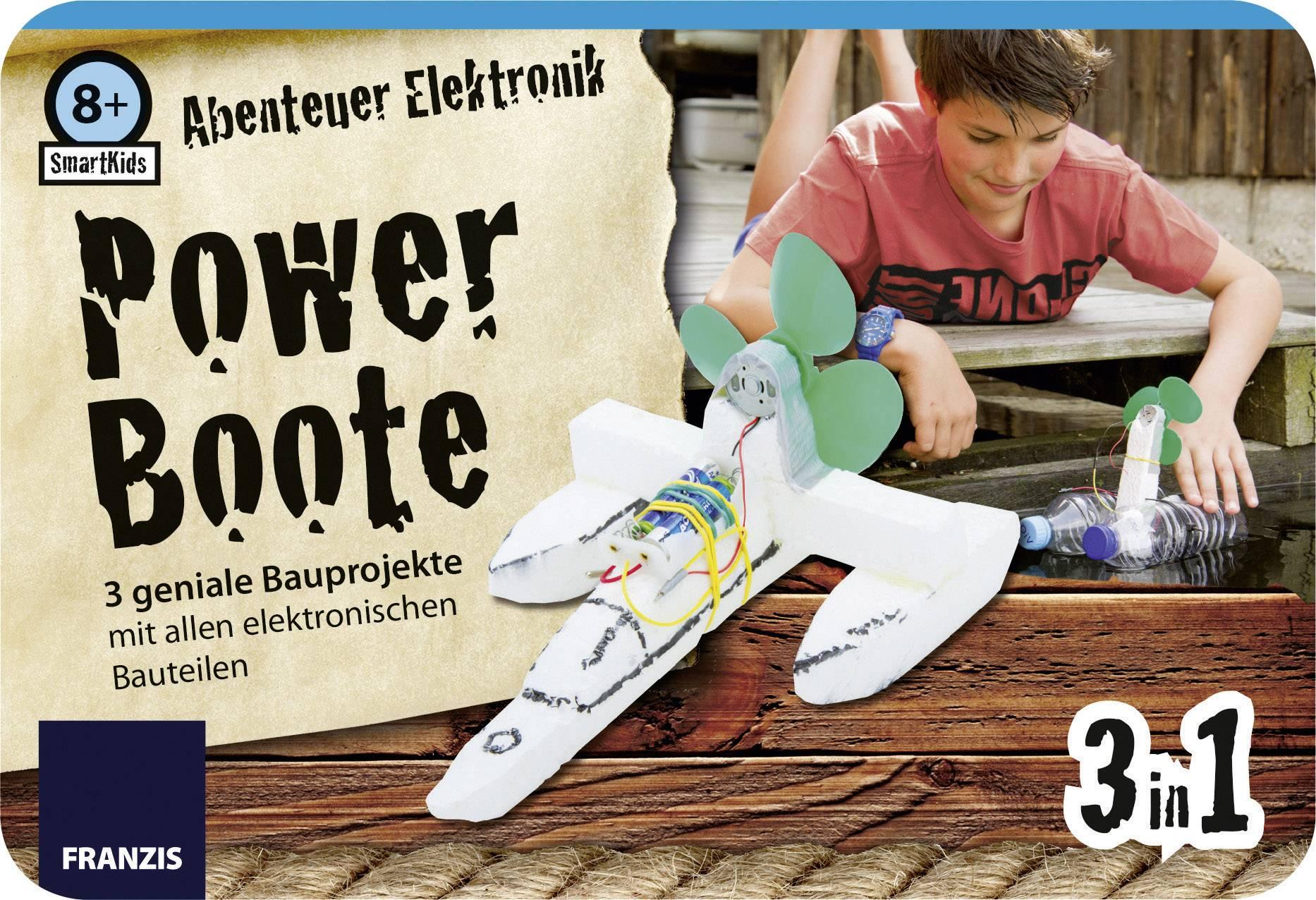 Stavebnica Franzis Verlag SmartKids Abenteuer Elektronik Power Boote 978-3-645-65212-4, od 8 rokov