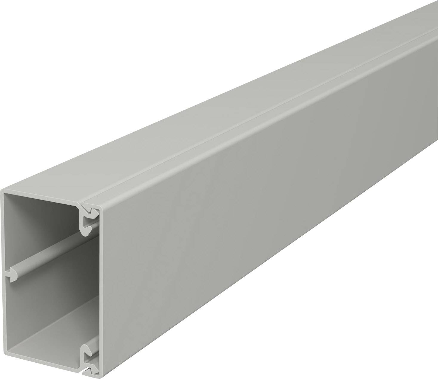 Elektroinstalační lišta s krytem OBO Bettermann, 6189601, 60 x 40 mm, 2 m, šedá