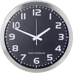 Analógové nástenné DCF hodiny, 40 cm, hliník