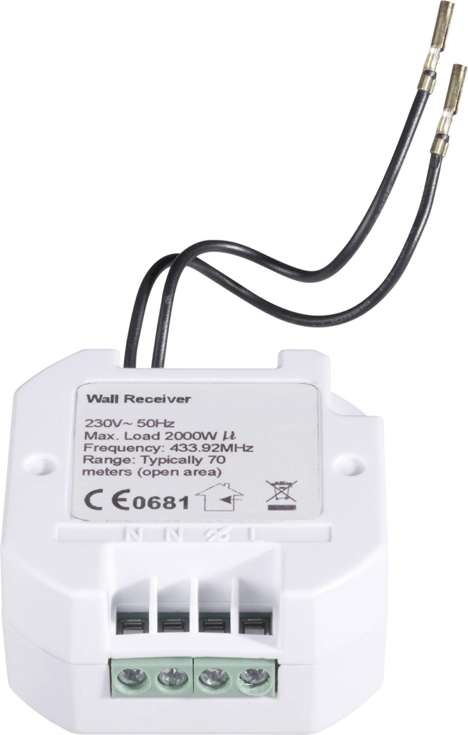 Zabudovateľný bezdrôtový spínač RSLU, 2 kW