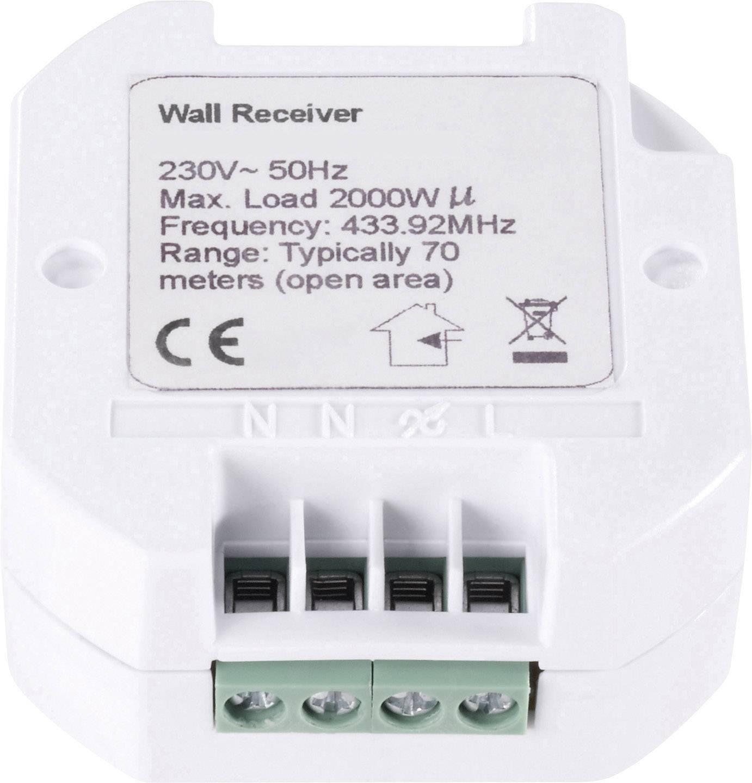 Zabudovateľný bezdrôtový spínač RSLR3, 2 kW