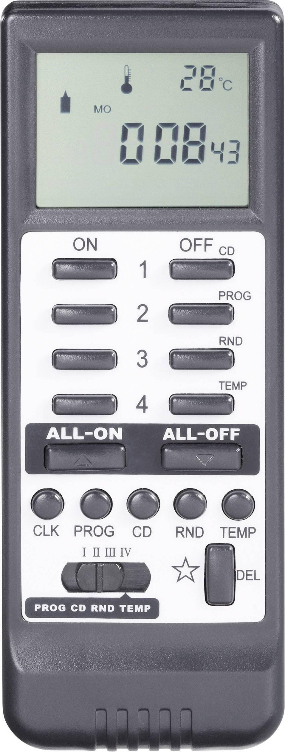 Bezdrôtové diaľkové ovládanie s LCD RSLT, čierne