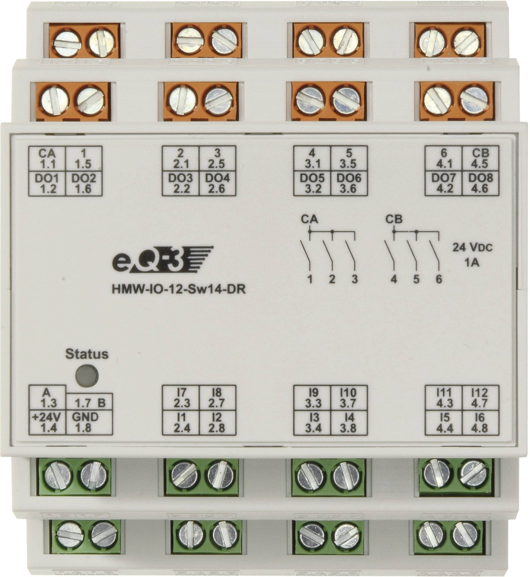 I/O modul RS485 na DIN lištu HomeMatic HMW-IO-12-SW14-DR