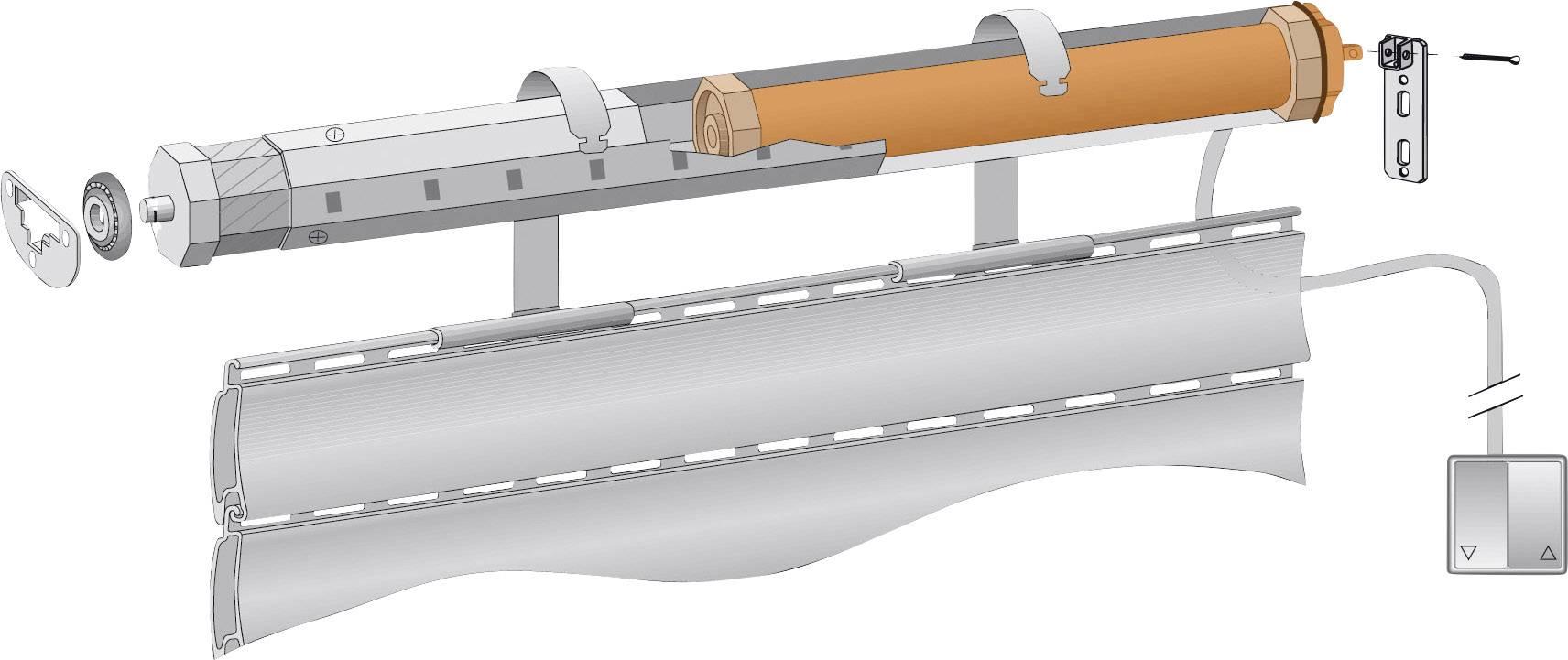 Trubkový motor Kaiser Nienhaus Favorit Electronic 122000, 20 Nm, 121000, ťah 5,5 m2