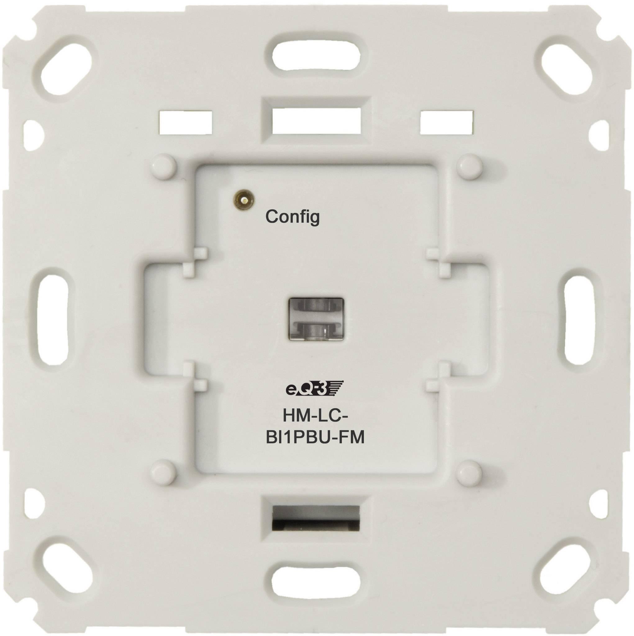 Bezdrôtový spínač pod omietku HomeMatic HM-LC-Sw1PBU-FM 103029 1-kanálový , max. dosah 100 m