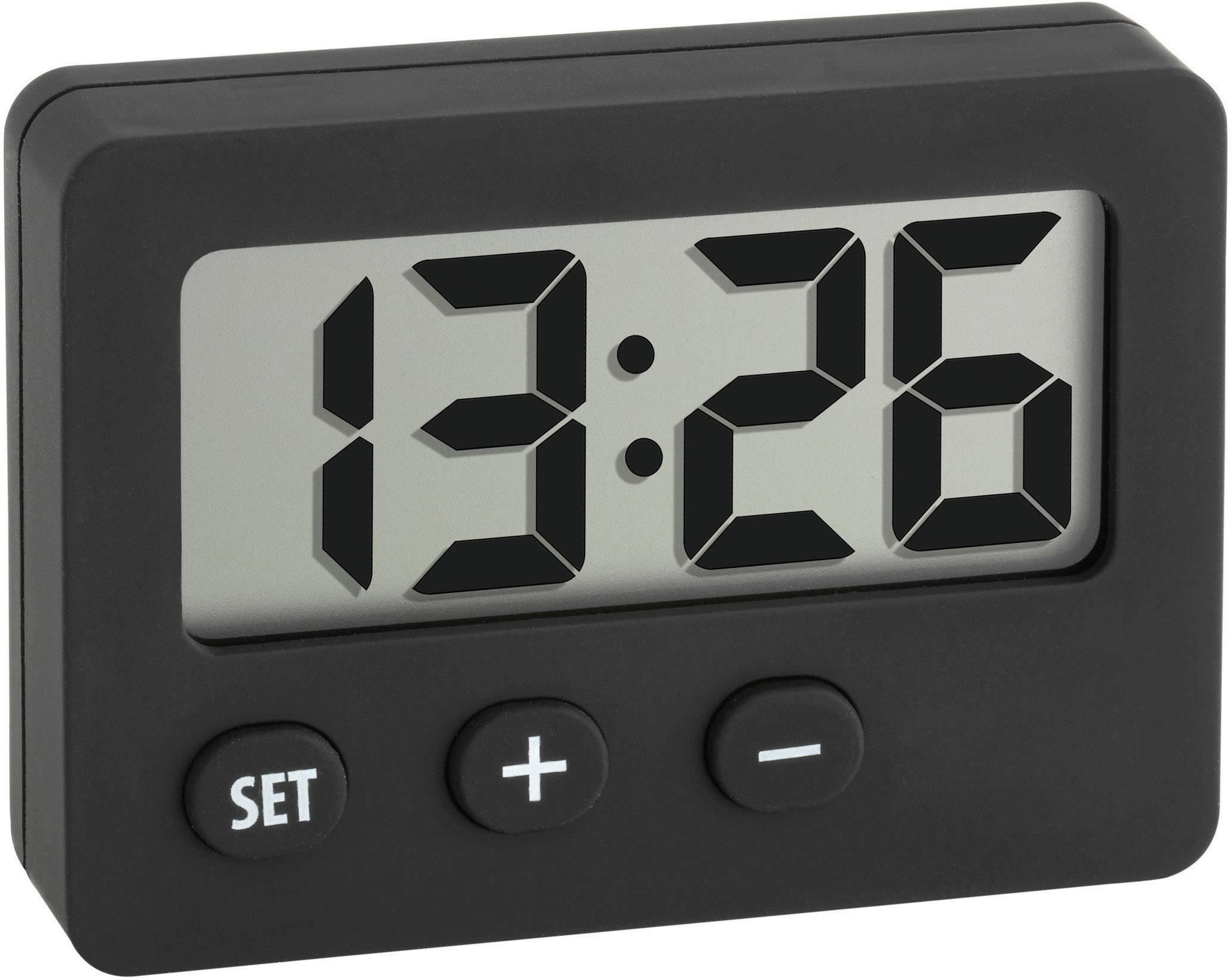 Digitálne hodiny 42 x 59 mm, čierne