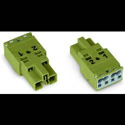 Síťový konektor WAGO zástrčka, rovná, počet kontaktů: 2, 25 A, 250 V, černá, 100 ks