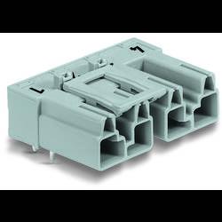 Síťový konektor WAGO zástrčka, vestavná úhlová, počet kontaktů: 4, 25 A, 400 V, šedá, 50 ks