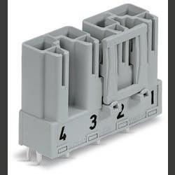 Síťový konektor WAGO zástrčka, vestavná úhlová, počet kontaktů: 4, 25 A, 400 V, černá, 50 ks
