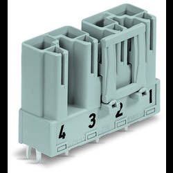 Síťový konektor WAGO zástrčka, vestavná rovná, počet kontaktů: 4, 25 A, 400 V, šedá, 50 ks