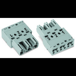 Síťový konektor WAGO zástrčka, rovná, počet kontaktů: 3, 25 A, 250 V, červená, 100 ks
