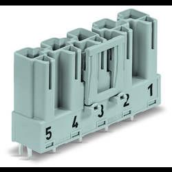 Síťový konektor WAGO zástrčka, vestavná úhlová, počet kontaktů: 5, 25 A, 400 V, bílá, 50 ks