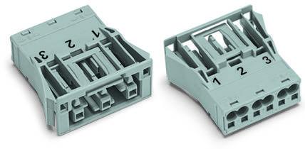 Síťový konektor WAGO zásuvka, rovná, počet kontaktů: 3, 25 A, 250 V, světle zelená, 100 ks