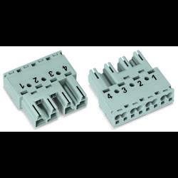 Síťový konektor WAGO zástrčka, rovná, počet kontaktů: 4, 25 A, 400 V, šedá, 50 ks