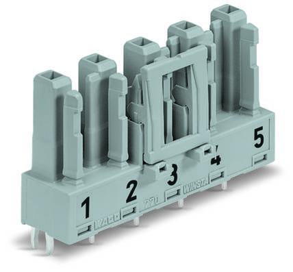 Síťový konektor WAGO zásuvka, vestavná vertikální, počet kontaktů: 5, 25 A, 400 V, šedá, 50 ks