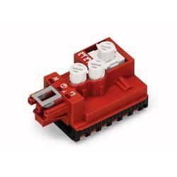 Svorkovnicový modul kulatý kabel - plochý kabel počet kontaktů: 3, červená, 1 ks