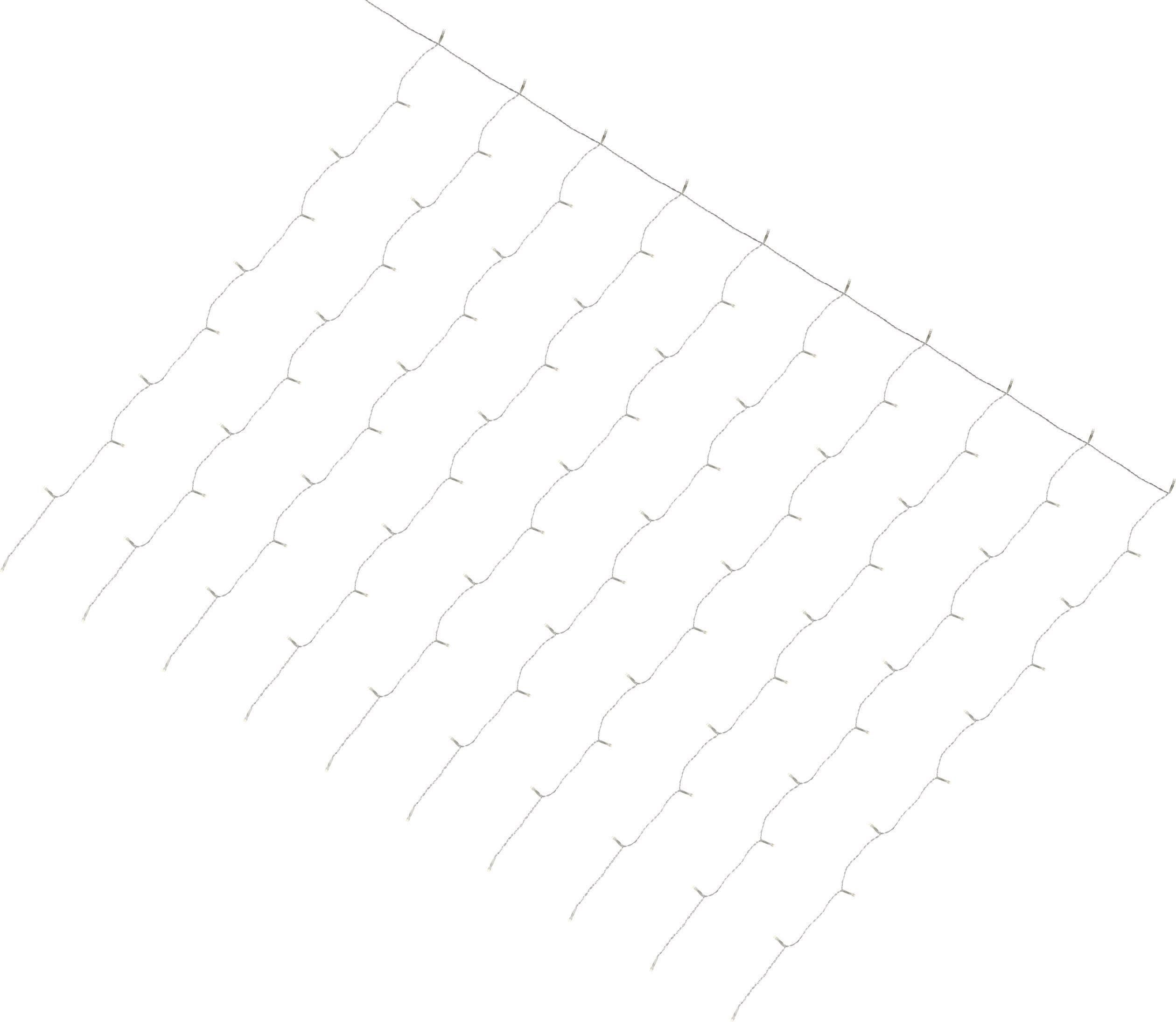 Vonkajšie svetelný záves - micro 100WWCLED 100 x LED, (š x v) 180 cm x 135 cm, 24 V, teplá biela