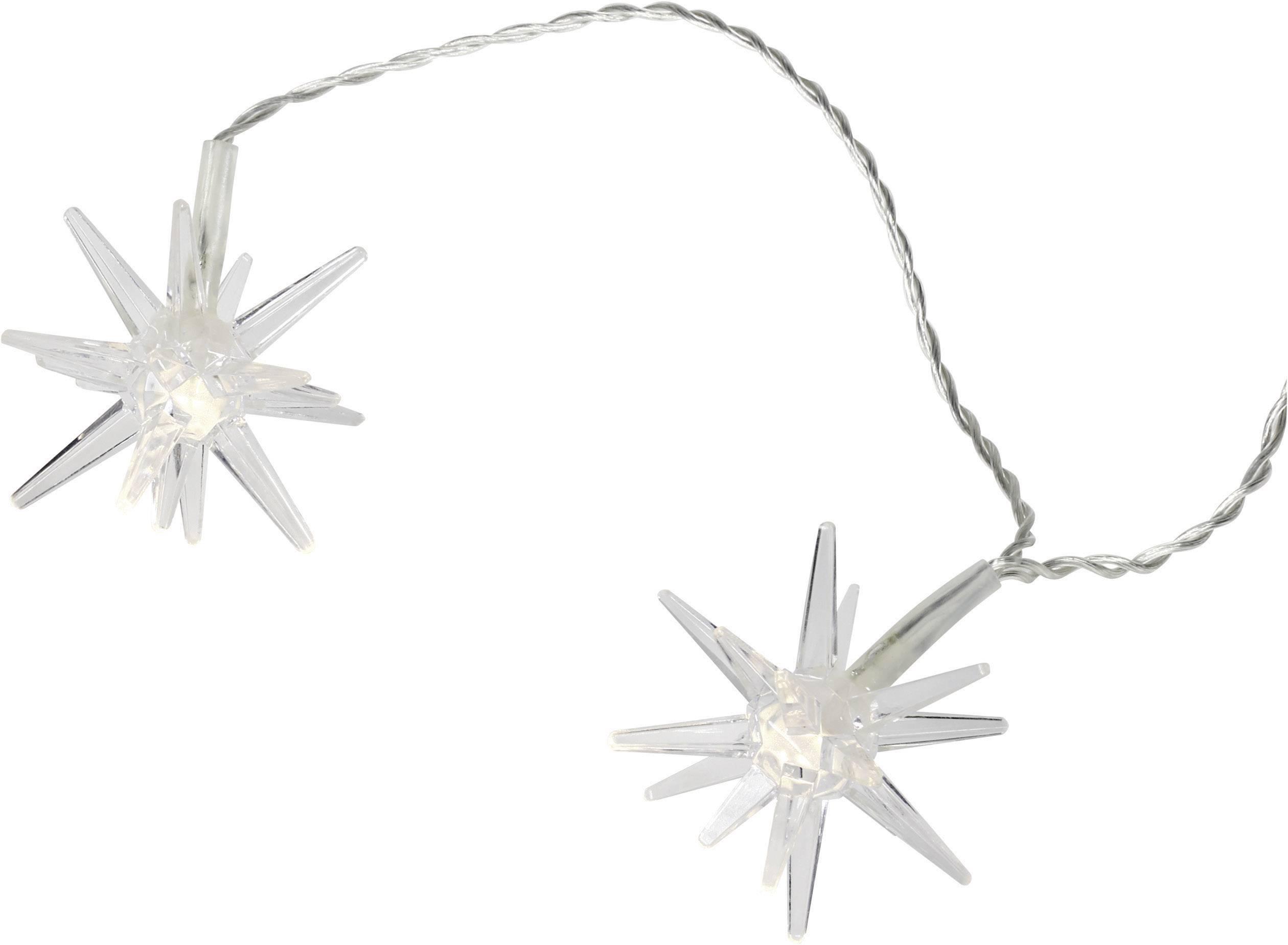 Mini řetěz 12 LED hvězdiček, 2,2 m, teplá bílá