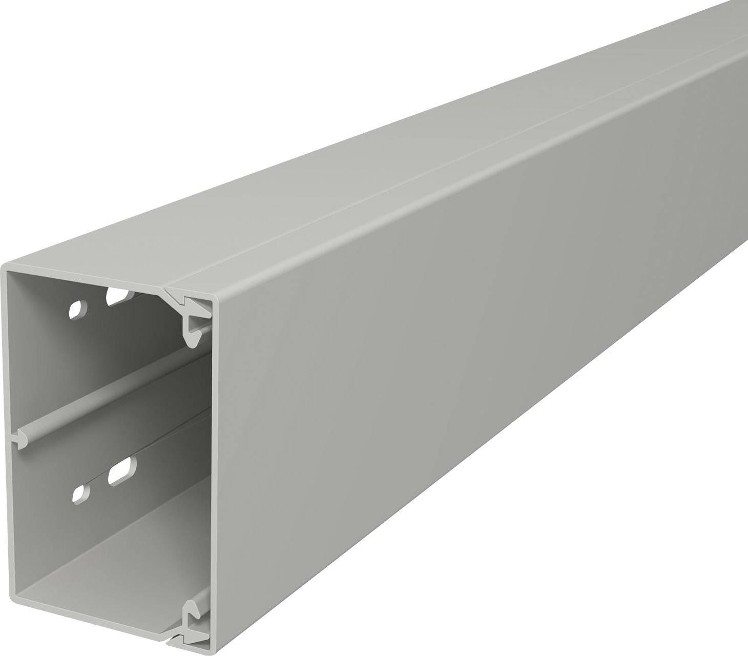 Elektroinstalační lišta s krytem OBO Bettermann, 6189598, 60 x 90 mm, 2 m, šedá