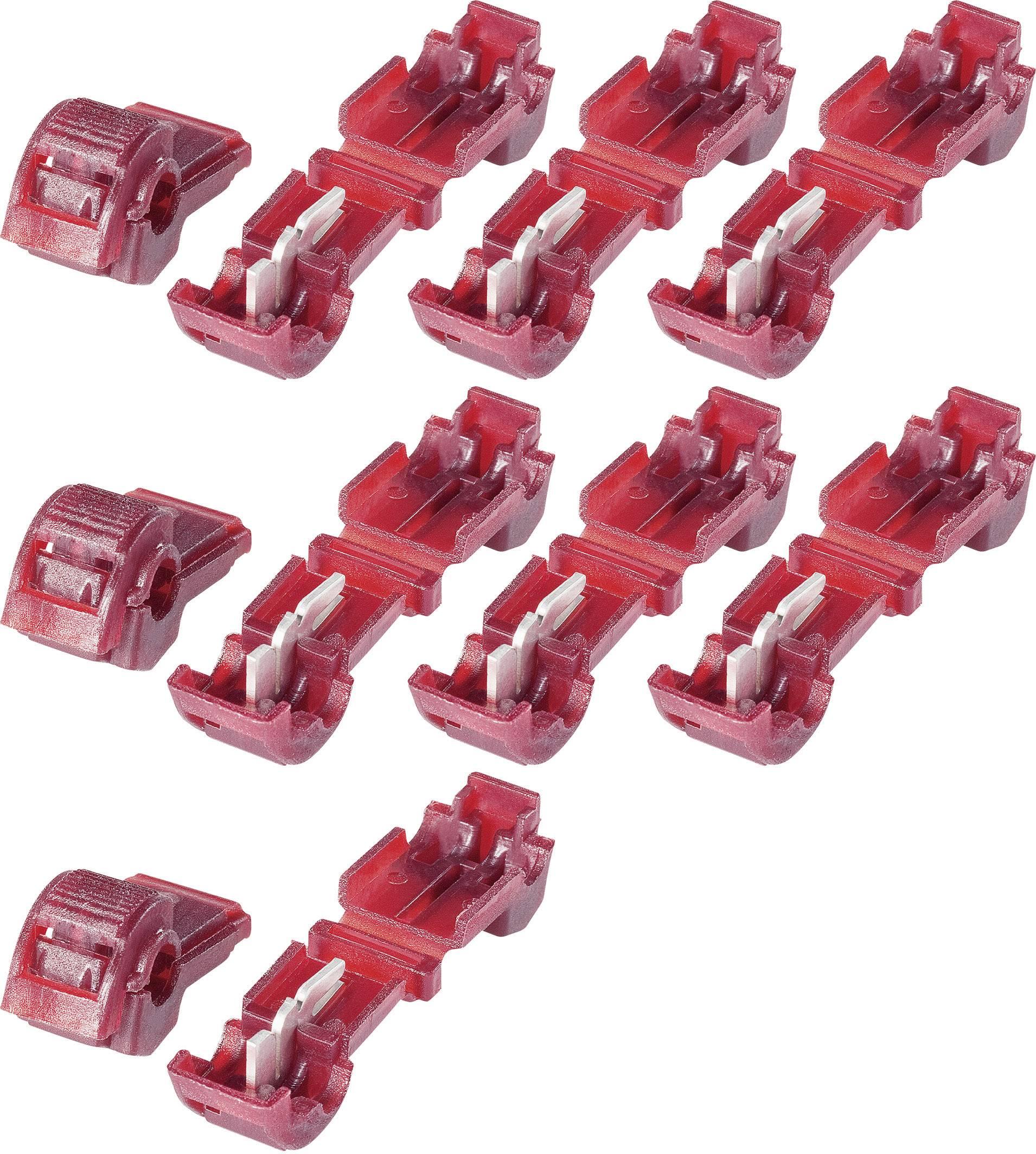 Sada spojok KVA 1, 3.250.021, 6,3 mm, 0,5 - 1,5 mm², červená, 10 ks
