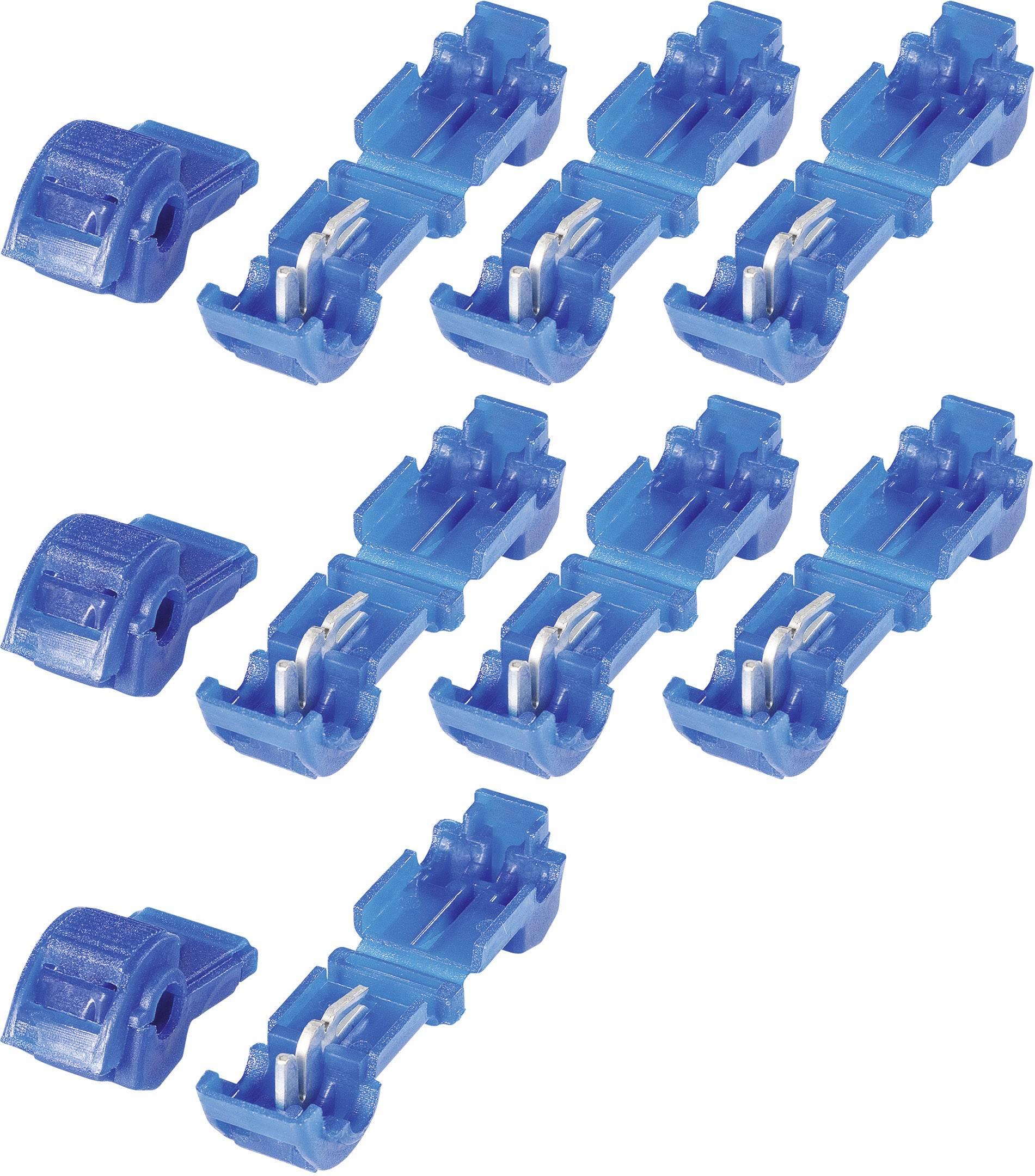Sada spojok KVA 2,5, 3.250.031, 6,3 mm, 1,5 - 2,5 mm², modrá, 10 ks