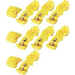Sada spojek KVA 6, 3250041, 6,3 mm, 4 - 6 mm², žlutá, 10 ks