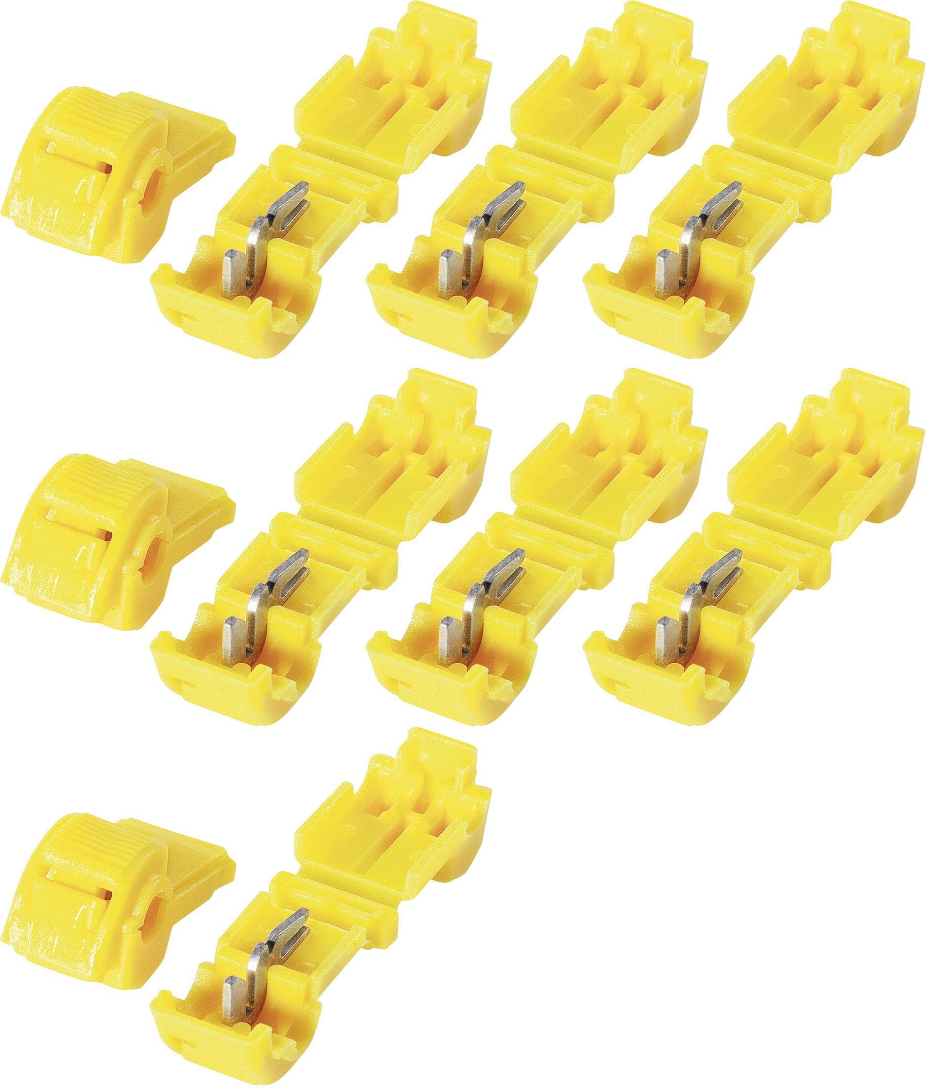 Sada spojok KVA 6, 3.250.041, 6,3 mm, 4 - 6 mm², žltá, 10 ks