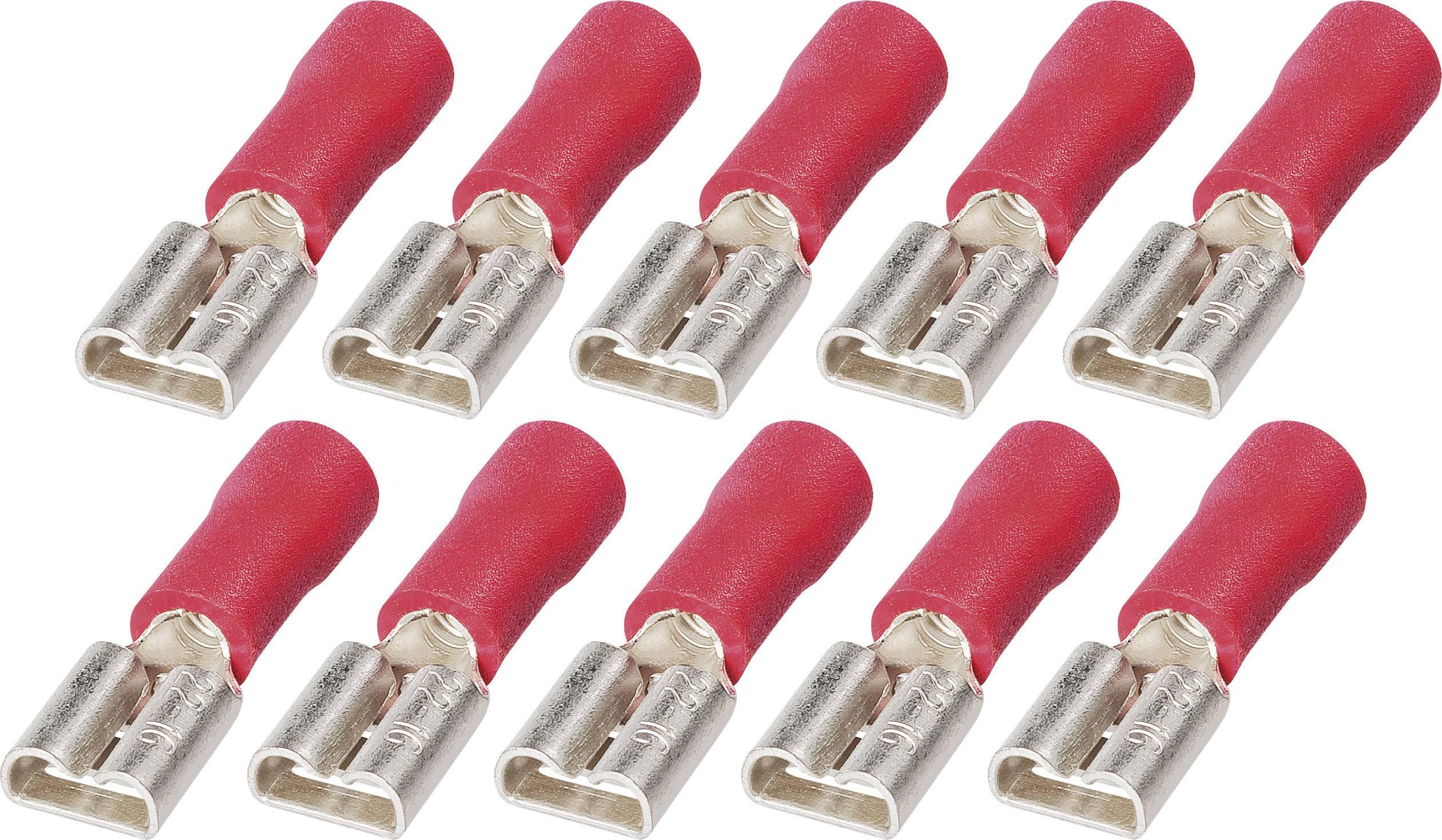 Sada upevnení faston FSP 4,8-1, 3.258.831, 4,8 mm, 0,5 - 1,5 mm², červená, 10 ks
