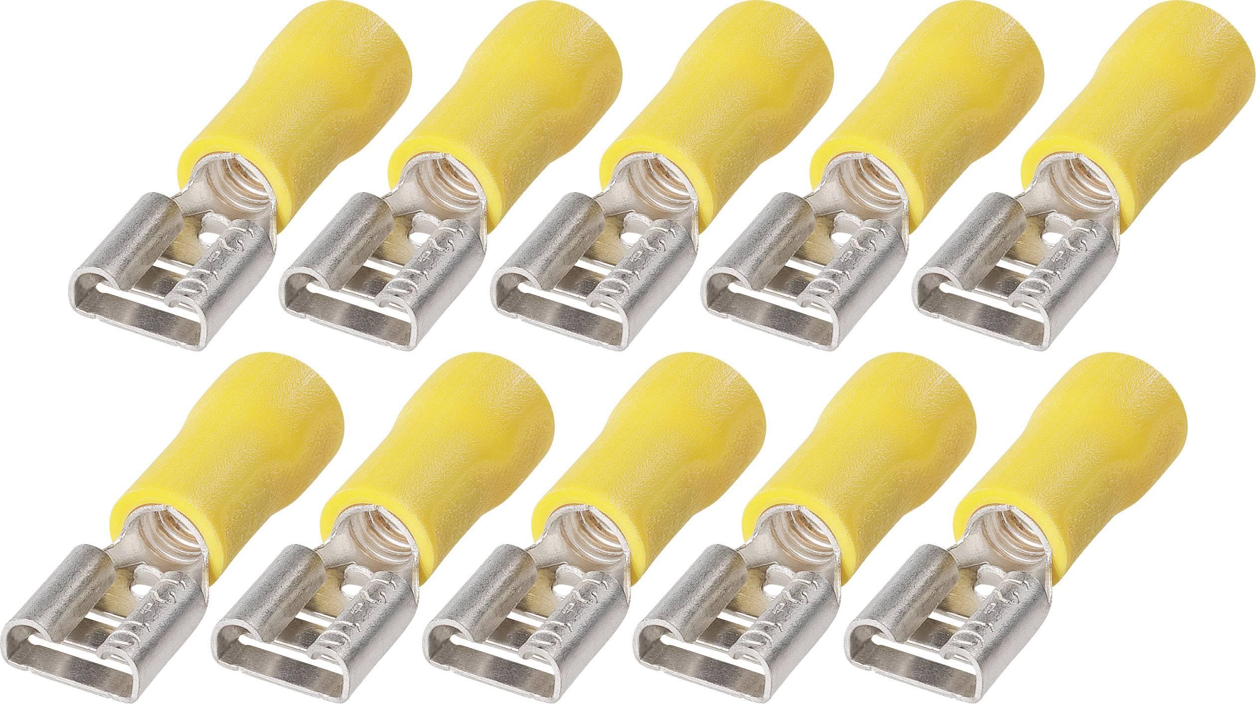 Sada upevnení faston FSP od 6,3 do 6, 3.258.911, 6,3 mm, 2,5 - 6 mm², žltá, 10 ks