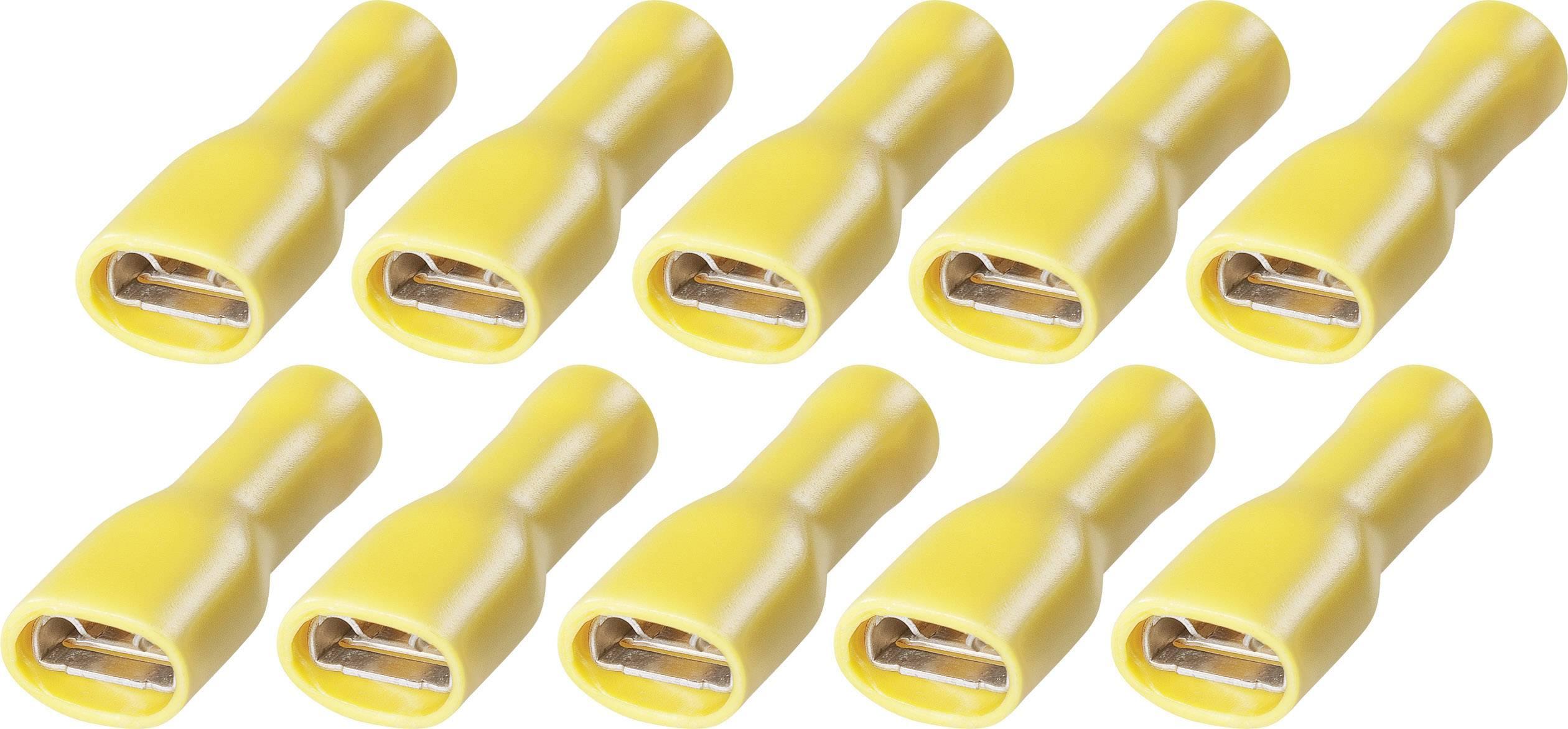 Sada upevnení faston FSPV 6,3 až 6, 3,258,921, 6,3 mm, 2,5 - 6 mm², žltá, 10 ks
