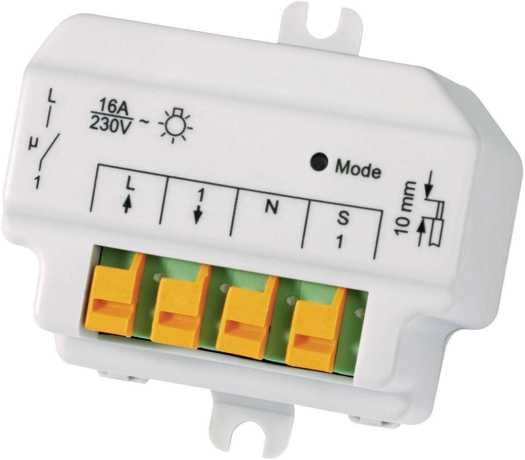 Bezdrátový spínač pod omítku HomeMatic HM-LC-SW1-FM 76793 1kanálový , 3680 W