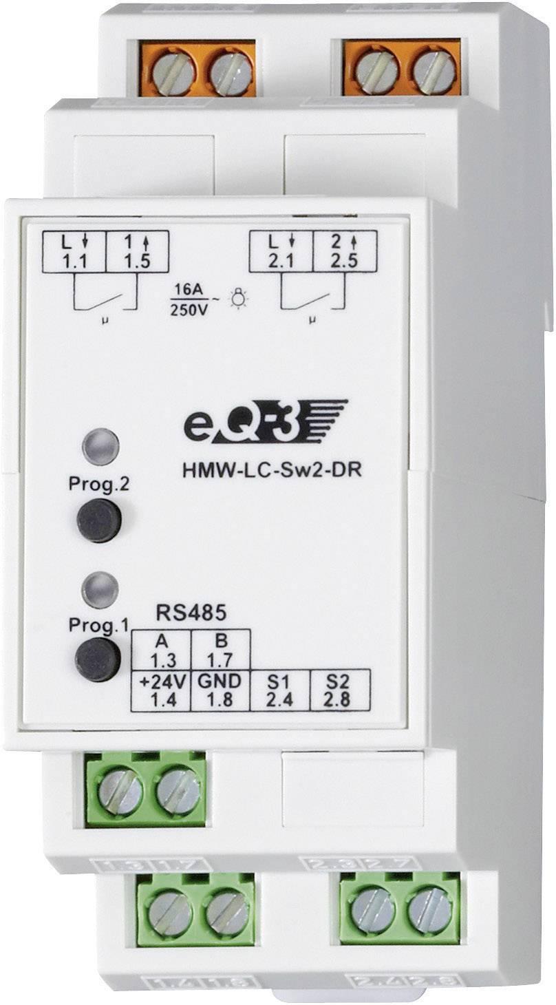 Spínač RS485 na DIN lištu HomeMatic HMW-LC-Sw2-DR 76801 2-kanálový