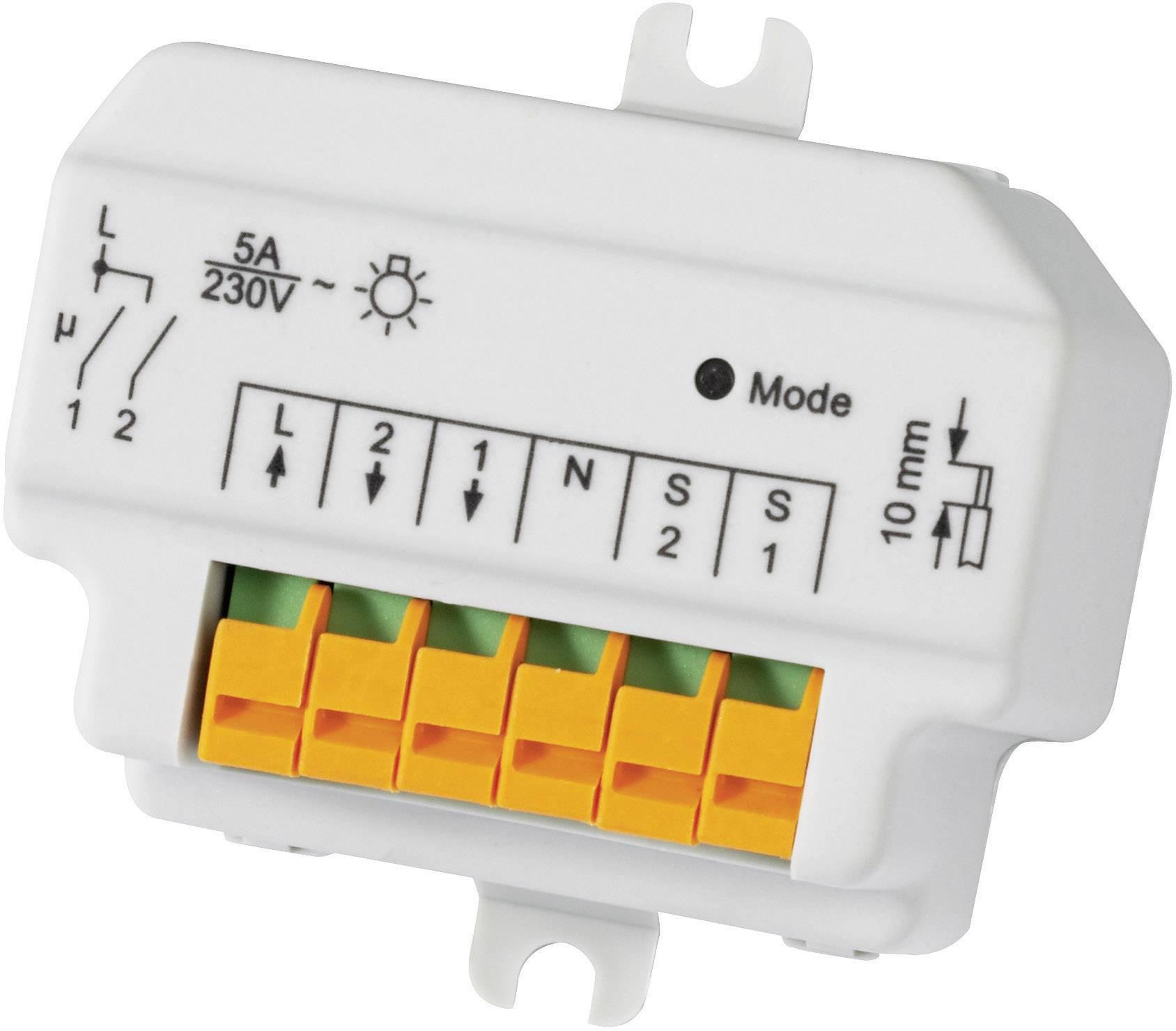 Bezdrôtový spínač pod omietku HomeMatic HM-LC-SW2-FM 76794 2-kanálový, max. dosah 100 m, 1150 W